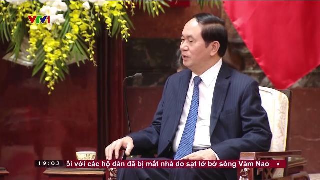 Chủ tịch nước Trần Đại Quang tiếp Bộ trưởng Bộ Môi trường và Tài nguyên nước Singapore