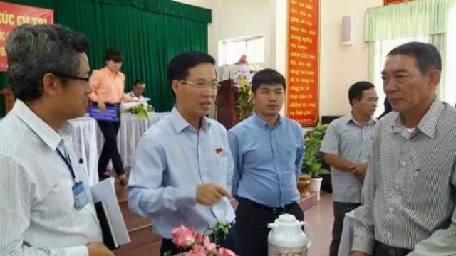 Ông Võ Văn Thưởng tiếp xúc cử tri trước kỳ họp Quốc hội