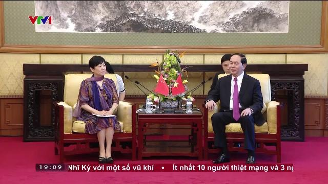 Chủ tịch nước Trần Đại Quang tiếp nhân sỹ, cán bộ, chuyên gia Trung Quốc