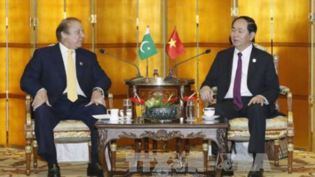 Chủ tịch nước Trần Đại Quang tiếp Thủ tướng Pakistan