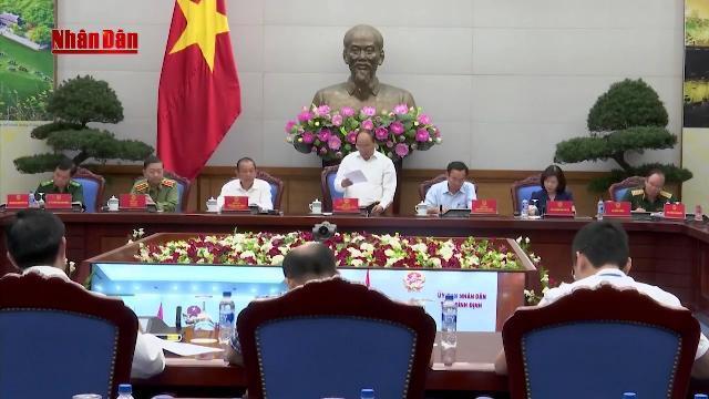 Thủ tướng Nguyễn Xuân Phúc chủ trì hội nghị trực tuyến về tình hình an ninh trật tự