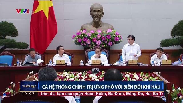 Thủ tướng Nguyễn Xuân Phúc họp bàn cùng hệ thống chính trị ứng phó với biến đổi khí hậu