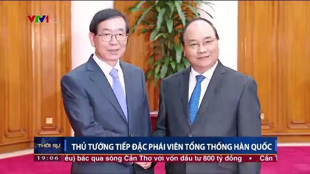 Thủ tướng Nguyễn Xuân Phúc tiếp đặc phái viên Tổng thống Hàn Quốc