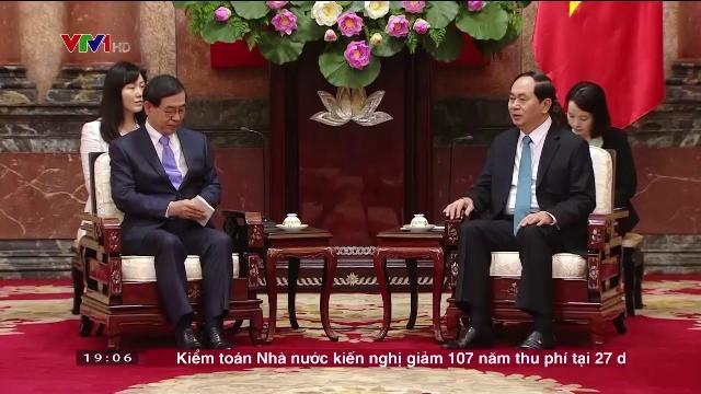 Chủ tịch nước Trần Đại Quang tiếp đặc phái viên Tổng thống Hàn Quốc