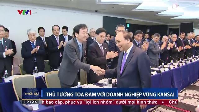 Thủ tướng Nguyễn Xuân Phúc tọa đàm với doanh nghiệp vùng Kansai
