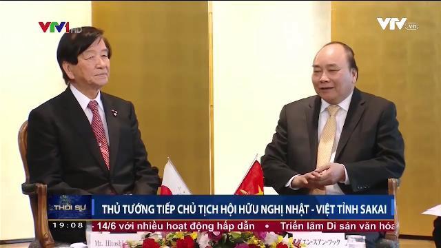 Thủ tướng Nguyễn Xuân Phúc tiếp Chủ tịch hội hữu nghị Nhật Việt tỉnh Sakai