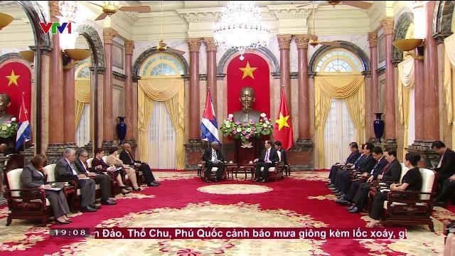 Chủ tịch nước Trần Đại Quang tiếp Chủ tịch Quốc hội Cuba