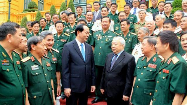 Chủ tịch nước Trần Đại Quang tiếp cựu quân tình nguyện giúp Campuchia