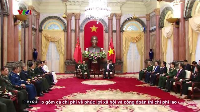 Chủ tịch nước Trần Đại Quang tiếp phó Chủ tịch quân ủy TW Trung Quốc