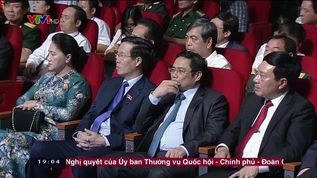 Chủ tịch nước Trần Đại Quang tại lễ trao giải báo chí Quốc gia