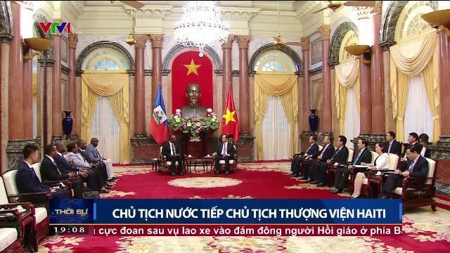 Chủ tịch nước Trần Đại Quang tiếp Chủ tịch thượng viện Haiti
