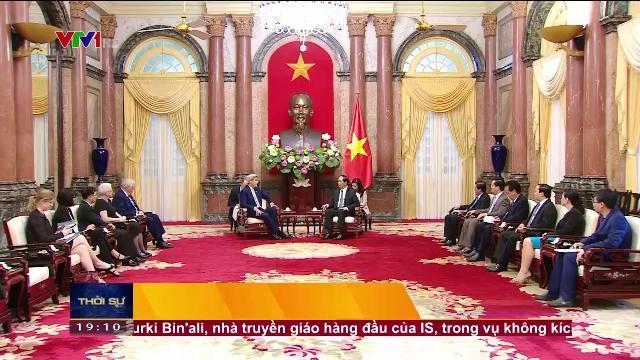Chủ tịch nước Trần Đại Quang tiếp cựu bộ trưởng ngoại giao Hoa Kỳ
