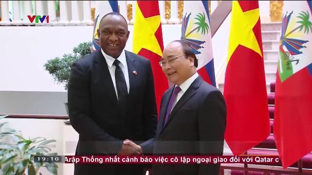 Thủ tướng Nguyễn Xuấn Phúc tiếp Chủ tịch thượng viện Haiti