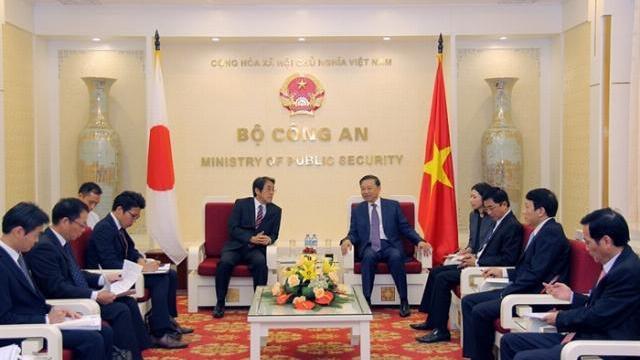 Bộ trưởng Tô Lâm tiếp Đại sứ Nhật Bản