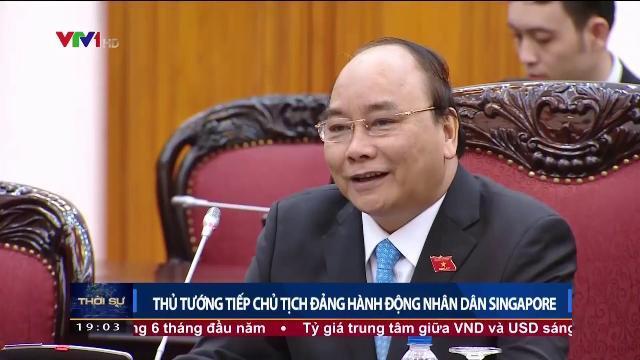 Thủ tướng Nguyễn Xuân Phúc tiếp Chủ tịch Đảng hành động nhân dân Singapore