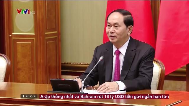 Chủ tịch nước Trần Đại Quang hội kiến Thủ tướng Nga