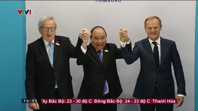 Thủ tướng Nguyễn Xuân Phúc hội kiến lãnh đạo liên minh Châu Âu