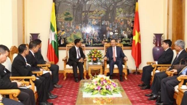 Bộ trưởng Tô Lâm tiếp Thứ trưởng Bộ Nội vụ Myanmar