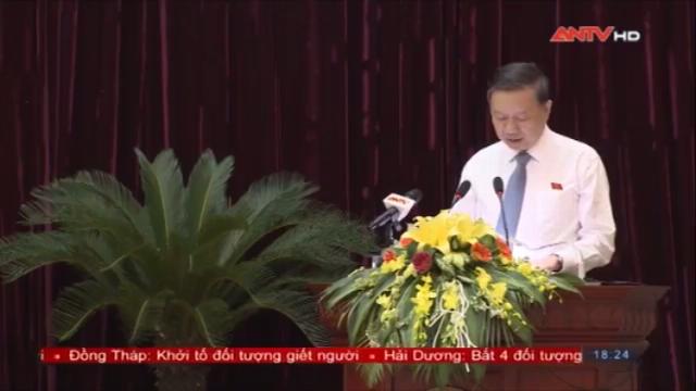 Bộ trưởng Tô Lâm dự kỳ họp thứ 5, khoá 18, HĐND tỉnh Bắc Ninh