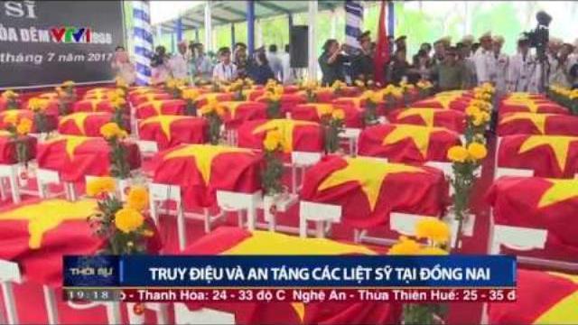 Lễ truy điệu và an táng hài cốt hơn 150 liệt sĩ tại Đồng Nai