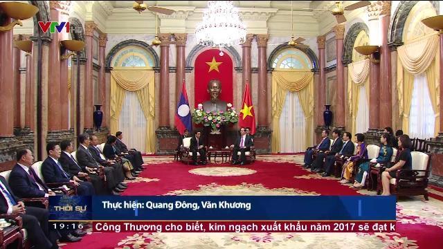 Chủ tịch nước Trần Đại Quang tiếp phó chủ tịch nước Lào