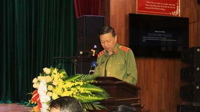 Bộ trưởng Tô Lâm làm việc với Công an tỉnh Hà Nam