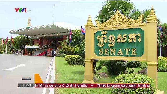 Tổng bí thư Nguyễn Phú Trọng hội kiến Chủ tịch thượng viện Campuchia