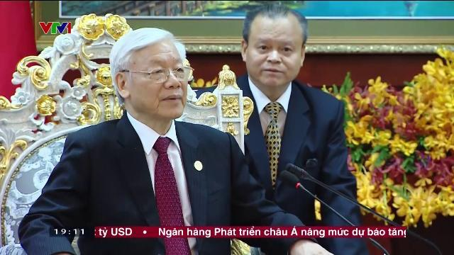 Tổng bí thư Nguyễn Phú Trọng hội kiến chủ tịch Quốc hội Campuchia