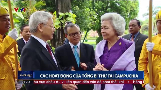 Các hoạt động của Tổng bí thư Nguyễn Phú Trọng tại Campuchia