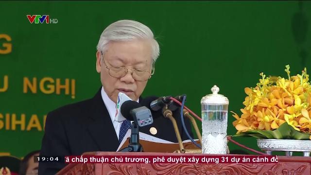Tổng bí thư Nguyễn Phú Trọng dự lễ khánh thành tượng đài hữu nghị Việt Nam Campuchia