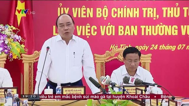 Thủ tướng Nguyễn Xuân Phúc làm việc với ban thường vụ tỉnh ủy Hà Tĩnh