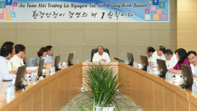 Thủ tướng Nguyễn Xuân Phúc : Chính phủ sẽ tạo mọi điều kiện để Samsung thành công