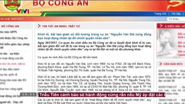 Khởi tố, bắt giam một số đối tượng vụ án Nguyễn Văn Đài