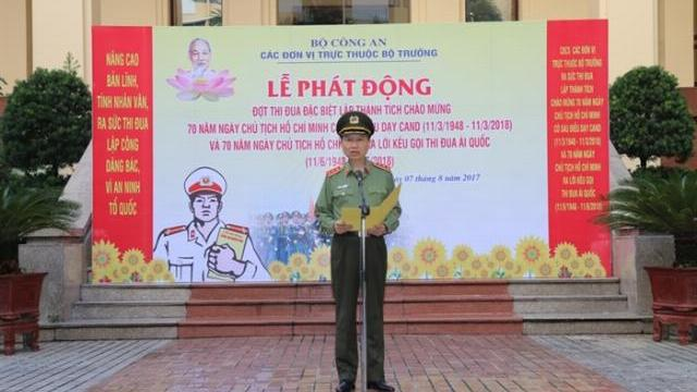 Phát động Đợt thi đua chào mừng 70 năm Ngày Chủ tịch Hồ Chí Minh có 6 điều dạy CAND
