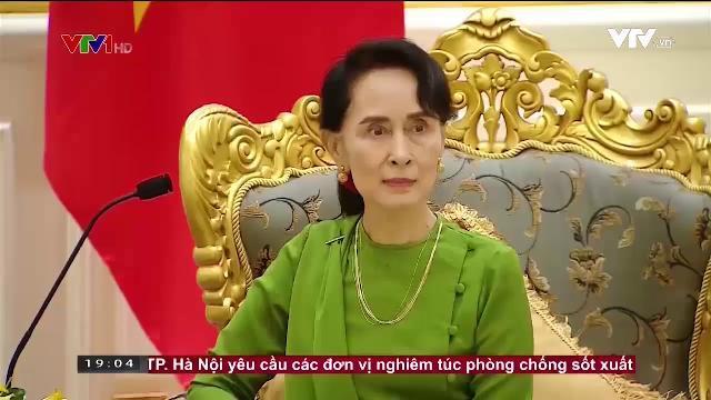 Tổng bí thư Nguyễn Phú Trọng hội kiến cố vấn nhà nước Myanmar
