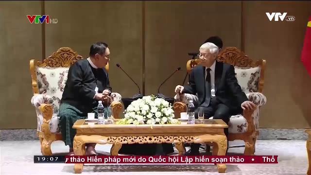Tổng bí thư Nguyễn Phú Trọng tiếp lãnh đạo Đảng liên đoàn Quốc gia vì dân chủ