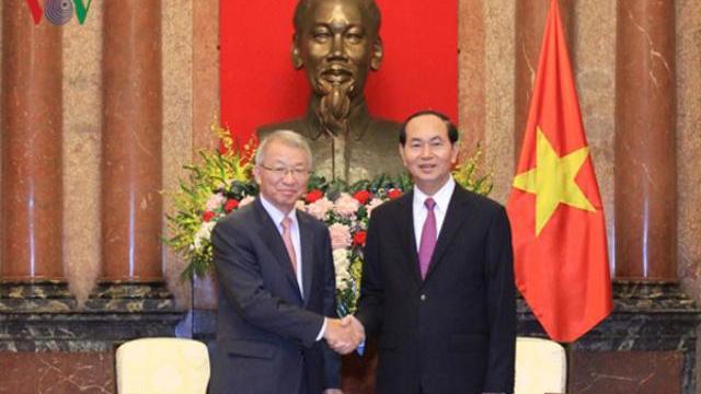 Chủ tịch nước Trần Đại Quang tiếp chánh án toàn án tối cao Hàn Quốc