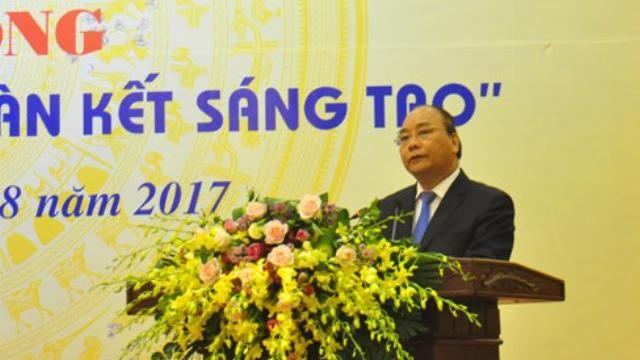 Thủ tướng Nguyễn Xuân Phúc công bố sách vàng sáng tạo Việt Nam năm 2017