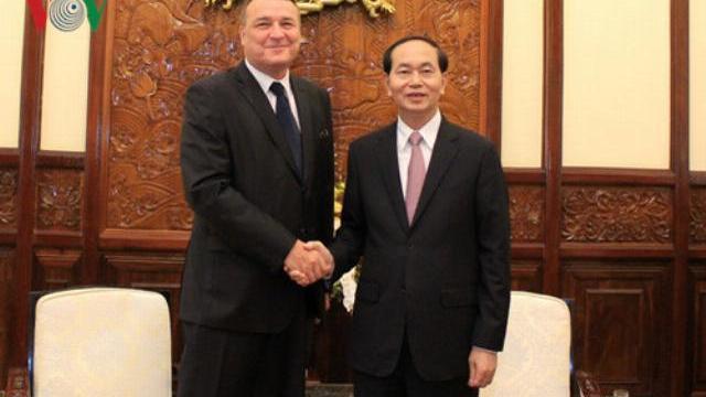 Chủ tịch nước Trần Đại Quang tiếp đại sứ Slovakia