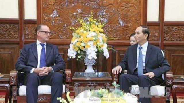 Chủ tịch nước Trần Đại Quang tiếp đại sứ Áo
