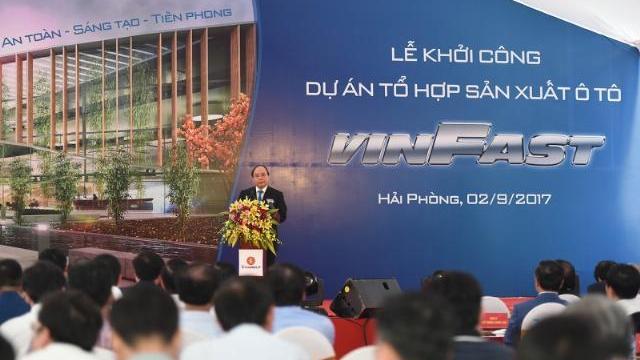 Thủ tướng Nguyễn Xuân Phúc khởi công dự án tổ hợp sản xuất ô tô VINIFAST