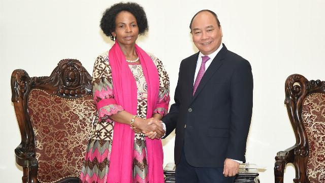 Thủ tướng Nguyễn Xuân Phúc tiếp bộ trưởng quan hệ quốc tế và hợp tác Nam Phi