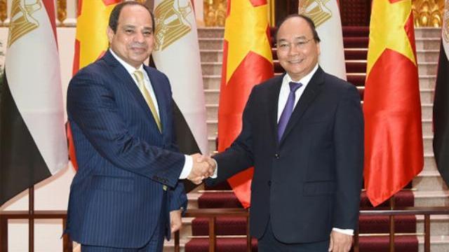 Thủ tướng Nguyễn Xuân Phúc hội kiến Tổng thống Ai Cập