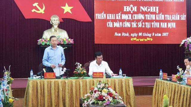 Bộ trưởng Tô Lâm kiểm tra phòng chống tham nhũng