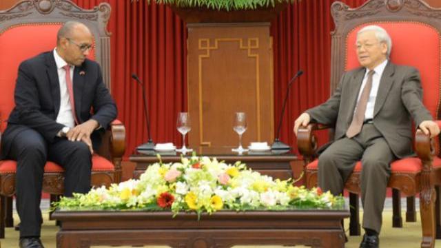 Tổng bí thư Nguyễn Phú Trọng tiếp đại sứ Cuba