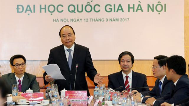 Thủ tướng Nguyễn Xuân Phúc làm việc với Đại học Quốc gia Hà Nội