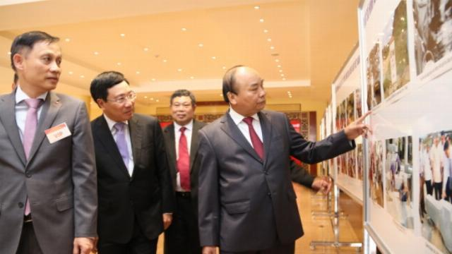 Thủ tướng Nguyễn Xuân Phúc tại hội nghị tổng kết công tác tăng dày và tôn tạo hệ thống mốc Quốc giới Việt Nam - Lào