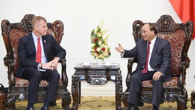 Thủ tướng Nguyễn Xuân Phúc tiếp phó chủ tịch ADB