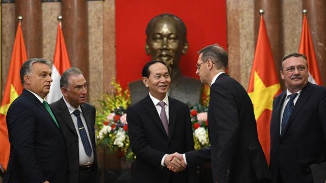 Chủ tịch nước Trần Đại Quang tiếp Thủ tướng Hungary