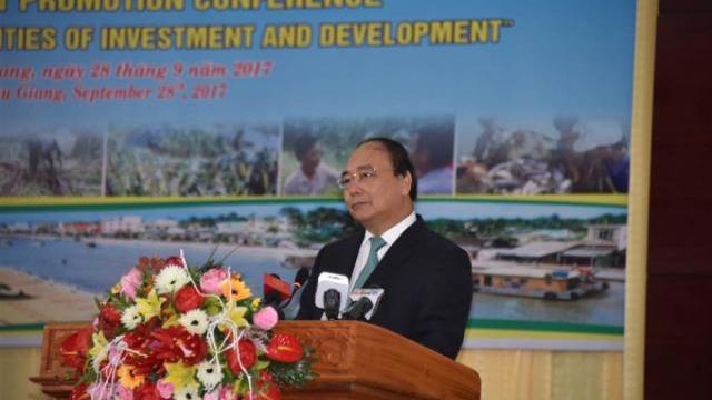 Thủ tướng Nguyễn Xuân Phúc tại hội nghị xúc tiến đầu tư tỉnh Hậu Giang